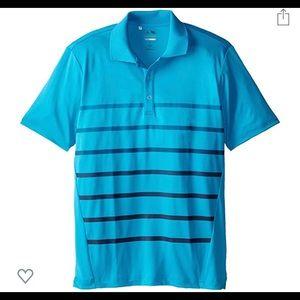 ADIDAS puremotion climacool striped golf shirt